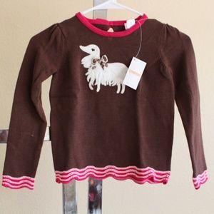 Gymboree Parisian Chic Dog Ruffle Sweater Small